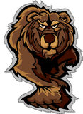 Grizzly Bear Mascot Body Prowling. Bear Mascot Prowling with Claws and Paws Image Royalty Free Stock Images