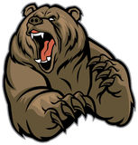 Grizzly bear mascot stock illustration