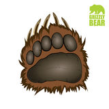 Grizzly bear paw. Vector illustration of bear paw Vector Illustration