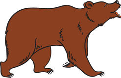 Grizzly Brown Bear Vector. A  illustration of a cute grizzly, brown or Kodiak bear Royalty Free Stock Photo