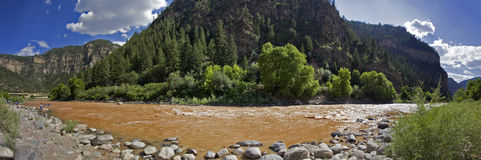 Grizzly Creek Panorama. Panoramic of Grizzly Creek, Colorado royalty free stock images