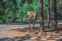 Grizzly Falls. A sign for the picnic area at Grizzly Falls in Sequoia National Forest Stock Photo