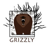 Grizzly logo design Royalty Free Stock Photos