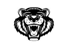 Grizzly niedźwiedzia głowy logo Zdjęcia Royalty Free