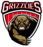 Grizzly niedźwiedzia maskotka royalty ilustracja