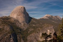 Grizzly Peak, Yosemite NP. Grizzly Peak seen from Panorama Trail, Yosemite National Park Stock Photo