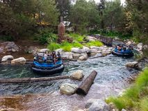 Grizzly River Rafting attraction at Disney's California Adventure. Exciting ride at Disneyland's California Adventure in Anaheim, California. Free-floating river Stock Photography