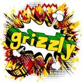 Grizzly - Wektorowy obrazkowy komiksu stylu zwrot ilustracji