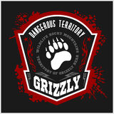 Grizzlybär - Militär beschriftet, Ausweise und Design Lizenzfreie Stockfotografie