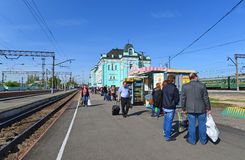 GRJAZI, RUSSIA - 28.08,2015. Train Station -  major railway hub in the South-Eastern Railway Royalty Free Stock Photos