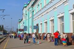 GRJAZI, RUSSIA - 28.08,2015. Train Station -  major railway hub in the South-Eastern Railway Stock Image