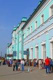 GRJAZI, RUSSIA - 28.08,2015. Train Station -  major railway hub in the South-Eastern Railway Royalty Free Stock Photography