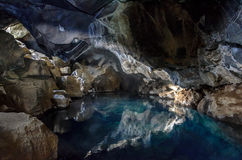 Grjotagja cave Stock Photos