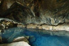 Grjotagja cave in Iceland Stock Photos
