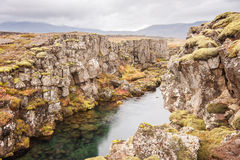 Grjotagja fissure Iceland Royalty Free Stock Image