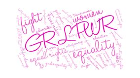 GRL PWR Animated Word Cloud stock video footage
