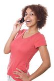 Grl talking on cell phone Stock Image