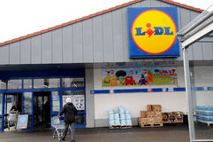 GRMANY LIDL FOOD MARKET Royalty Free Stock Images