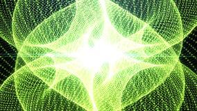 Grün bewegte nahtlosen Hintergrund des Partikels stock footage