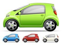 grön bil little Arkivbild