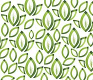 Grön bladtextur. Sömlös modell Royaltyfri Foto