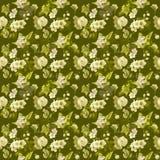 Grön blommawallpaper Royaltyfria Bilder