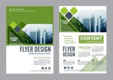 Grün-Broschüren-Plandesignschablone Jahresbericht-Flieger-Broschürenabdeckung Darstellung Lizenzfreie Stockfotos
