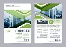 Grün-Broschüren-Plandesignschablone Jahresbericht-Flieger-Broschürenabdeckung Darstellung Stockfoto