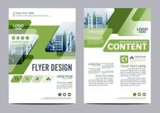 Grün-Broschüren-Plandesignschablone Jahresbericht-Flieger-Broschürenabdeckung Darstellung Stockbilder