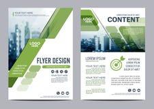 Grün-Broschüren-Plandesignschablone Jahresbericht-Flieger-Broschürenabdeckung Darstellung Lizenzfreie Stockfotografie