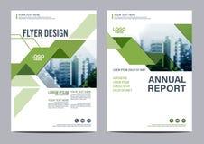 Grün-Broschüren-Plandesignschablone Jahresbericht-Flieger-Broschürenabdeckung Darstellung Lizenzfreie Stockbilder
