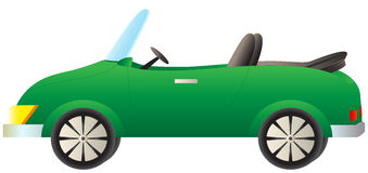 Grön cabrioletbil Royaltyfria Bilder