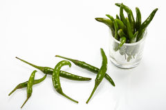 Grön chilipeppar Royaltyfri Bild