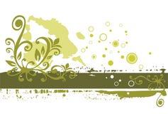 grön grunge för bakgrund Royaltyfri Fotografi