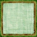 grön grunge för tyg Royaltyfri Bild