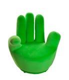 grön hand för stol Arkivbild
