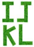 Grön isolerad gräsbokstav Royaltyfri Foto