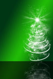 Grön julbakgrund med det abstrakta julträdet Royaltyfri Fotografi