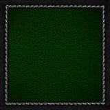 Grön läderbakgrund Arkivfoto