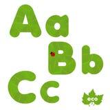 Grün lässt Schrifttyp Lizenzfreie Stockbilder