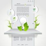 grön mallwebsite för eco Fotografering för Bildbyråer