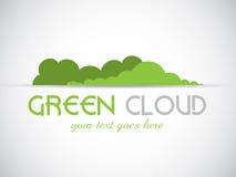 Grön molnlogo Arkivfoto
