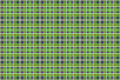 Grön och blå pläd Royaltyfria Bilder