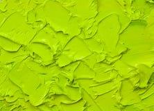grön oljemålarfärg Arkivfoton