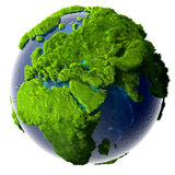 Grön planetjord Royaltyfri Fotografi