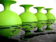 grön plast- Arkivfoto
