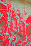 grön röd textur Arkivbilder