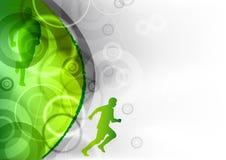 grön running Royaltyfri Foto