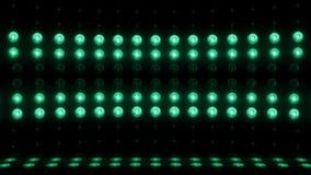 Grün SCHLEIFE vertikales Scannen 4K des Stadiums der Glühlampe 3d stock video