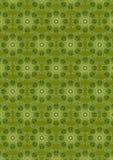 Grön sömlös bakgrund med en oval tappninggräsplanprydnad Royaltyfri Foto